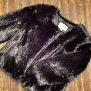Banana Republic faux fur coat